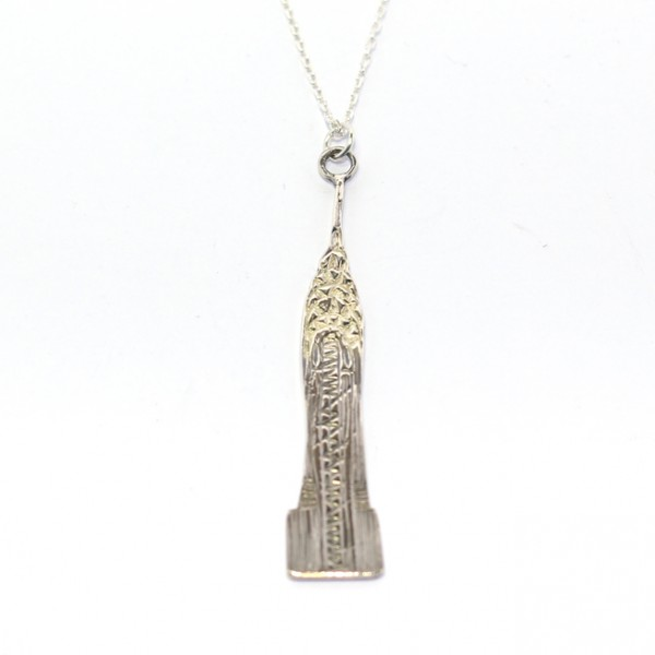 Deco Pendant with 18ct Gold Detail