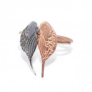 Stackable Rose Gold and Silver Bird Rings