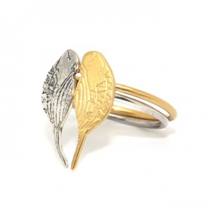 Stackable Gold and Silver Bird Rings